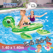 Bestway Inflatable Turtle Ride-On Float pool beach Swimming Kids Baby toys 41041