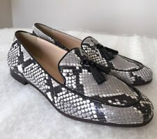 New J Crew Charlie Tassel Loafers Snakeskin Printed Leather 6 #F5592 Shoes $198