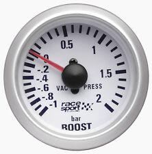 Sumex 52mm De Diámetro 12v Coche Turbo Boost Manómetro Carrera Dial-Satin Silver