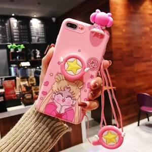 Cartoon Sailor Moon Pink Silicone Case for Huawei P20 Lite P30 Mate 20 Pro Nova
