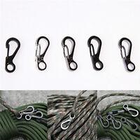 5 piezas Mini resorte cordón hebilla cierre mosquetón Clip llavero