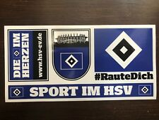 Hamburger SV HSV 4 Aufkleber / Sticker Set -  Raute Dich