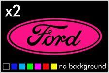 (2) Ford Sticker Vinyl Decal Car Truck Wheel Hub Cap Oval Wall Laptop Window
