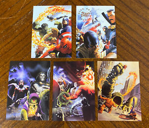 1998 MARVEL SILVER AGE Alex Ross Salutes THE SILVER AGE INSERT FOIL CARD LOT (5)