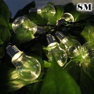 25FT Outdoor Lights 30 Solar Power Bulb String Lights Garden Party Fairy Lights