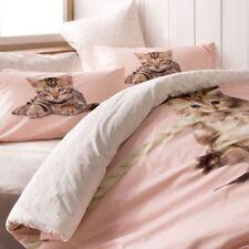 100% Cotton 3D Full Double Cats Printed Bedding Quilt / Duvet Cover Set 4 Pcs