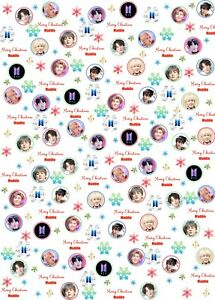 Personalised BTS Christmas Wrapping Paper