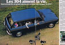 Publicité Advertising 016 1977 Peugeot 304 break (2 pages)