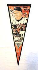 Cal Ripken Jr Baltimore Orioles Iron Man Thanks Cal MLB HOFer Pennant Authentic
