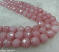 Perfect 8mm Faceted pink Ruby Loose Beads Gemstone 15""