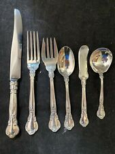 GORHAM CHANTILLY STERLING FLATWARE SET FOR 4 WITH 6 PIECES PER SETTING