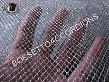 "Accordion Grille Lining Cloth Soft Mesh Silver 18"" x 7"" Akkordeon Ersatzteile"