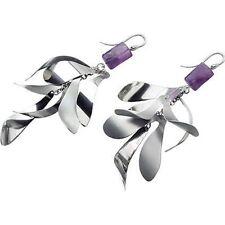Orecchini donna Breil Tribe originali jewellery TJ0668 acciaio e pietra viola
