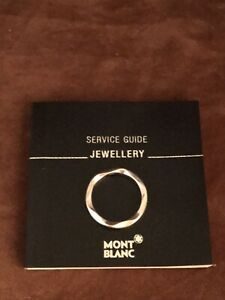 Sterling Silver Montblanc Ring. Size L.