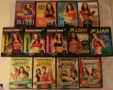 13 Jillian Michaels Biggest Loser workout Dvd lot Bootcamp kickbox fastfix