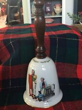 "Gorham 1980 Bell, Normal Rockwell, ""Chilly Reception"" Christmas, Vintage"