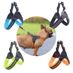 Pet Safe Harness Chest Vest Travel Supplies Reflective Mesh Breathable Harness
