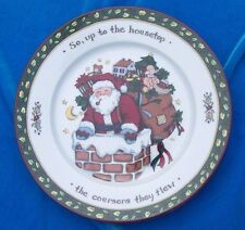 Portmeirion Studio Christmas Story Dessert Salad Plate So up to the Housetop