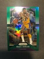 2019 Panini Prizm Magic Johnson Green Prizm L.A. Lakers HOF