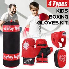 Kid Boxing Hang Punch Bag Sandbag Fitness Combat Training Gloves Set Toy Gift