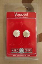 Uscg Us Coast Guard Auxillary One Pair Button Set For Combination Cap Chin Strap