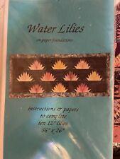 Water Lilies by Karen K. Stone - Quilt pattern - Unused.