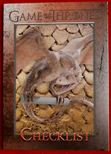 GAME OF THRONES - CHECKLIST C - Season 3, Card #98 - Rittenhouse 2014