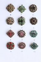SPILLA VINTAGE 3CM - VINTAGE FLOWER BOUQUET BROOCH WEDDING PARTY PIN BROACH