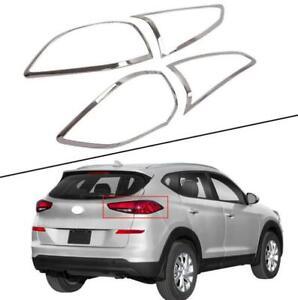 ABS chrome For Hyundai 2019-2020 2021 Tucson Rear tail lamp shade cover kit 4pc