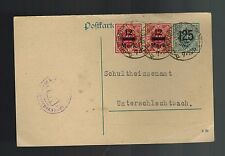 1923 German Offices in Mark Poftkarte Stamped Urgent Postcard Cover
