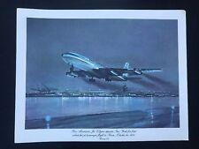 VTG Pan Am John T McCoy Menu Brazilian Jet Clipper N.Y. to PARIS (Boeing 707)