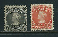2 Stamps - Chile 1867/68