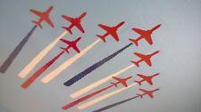Air show Red Hawk Display Team Adesivi Per Soffitto O Muro Camera da Letto per Bambini