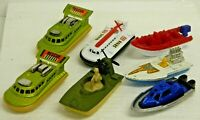 Vintage Matchbox Lesney HOVERCRAFTS & Boats Lot of 9 Assorted Made in England\