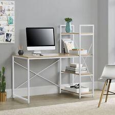 Schreibtisch mit Regal Bürotisch Computertisch Arbeitstisch PC Laptop Tisch Weiß