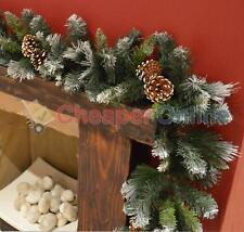 270cm x 25cm Frosted Glacier Christmas Garland with Pine Cones