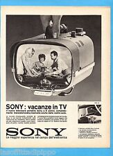 QUATTROR962-PUBBLICITA'/ADVERTISING-1962- SONY -  TELEVISORE PORTATILE 8 POLLICI