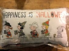 NEW Pottery Barn kids HAPPINESS IS HALLOWEEN  pillow Snoopy Peanuts Holliday