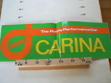 STICKER,DECAL CARINA NEW THE ROOMY PERFORMANCE CAR TOYOTA ? BIG SIZE 60 CM A