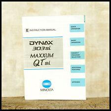 Original OEM Minolta Dynax 303si Instruction Manual 35mm Film Camera