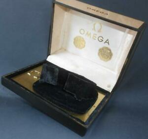 VINTAGE WATCH BOX FOR OMEGA SPEEDMASTER OR SEAMASTER IN RARE GOLDEN COLOR 60s