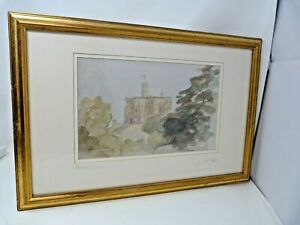 "Dunstanburgh Castle - Jim Doran 1998 Original Framed Signed Watercolour 20 x 13"""