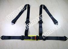 SPORTS RACING HARNESS SEAT BELT 3 4 POINT FIXING MOUNTING BLACK UK