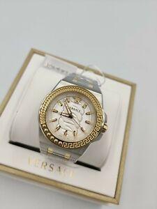 Versace Chain Reaction Unisex Luxury Swiss Watch Gold IP VEHD00420 1yr Warranty