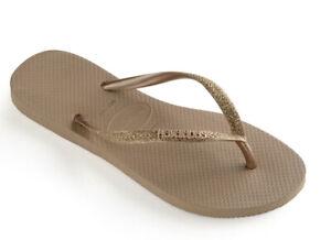 Havianas Slim Flip Flop Sandals Rose Gold Women's Size 6 NWT