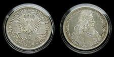 """Germany - 5 Mark 1955 """"G"""" almost UNC ~ Markgraf von Baden, silver"""