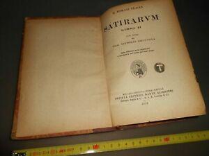 LIBRO: SATIRARUM - LIBRO II - Q.HORATI FLACCI -SOC.ED.DANTE ALIGHIERI -1929