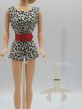 Barbie Midge Black & White Floral Play Suit Pak outfit wide red belt Minty 1963
