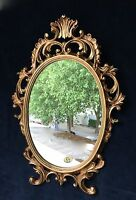 Espejo de pared Ovalado Barroco Oro Plata Negro Blanco 43x28cm antiguo Shabby