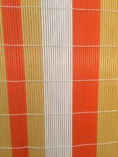 Vintage Retro Plastic Bamboo Window Blind Screen Orange Yellow White